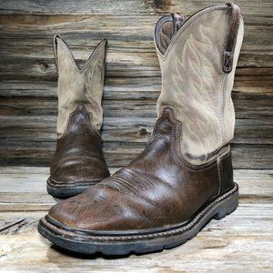 Ariat Work Leather Western Boots Men 8.5 EE